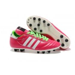 Coupe du monde 2014 Chaussure Adidas Copa Mundial FG Rose Blanc Vert