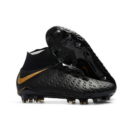 Crampon Foot Nouveaux Nike Hypervenom Phantom III DF FG ACC - Noir Or Vif
