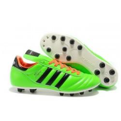 Nouveau Chaussure de Football Adidas Copa Mundial FG Vert Noir Orange