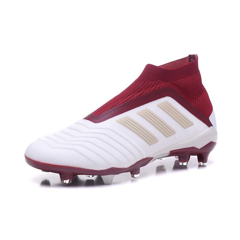 low priced 682db 9519a Fg Adidas Chaussures Oqw0sz 18 Predator Crampons Foot Blanc Vq6iiy Rouge  CqxTSaw