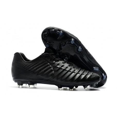 Nouveau Crampons foot Nike Tiempo Legend VII FG Tout Noir