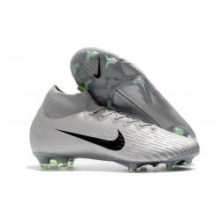 Nouvelles Chaussures de football Nike Mercurial Superfly VI 360 Elite FG Gris Argent