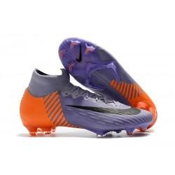 Nouvelles Chaussures de football Nike Mercurial Superfly VI 360 Elite FG Violet Orange Noir