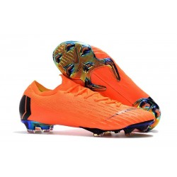 Nouveau Chaussures Football Nike Mercurial Vapor XII Elite FG - Orange Noir