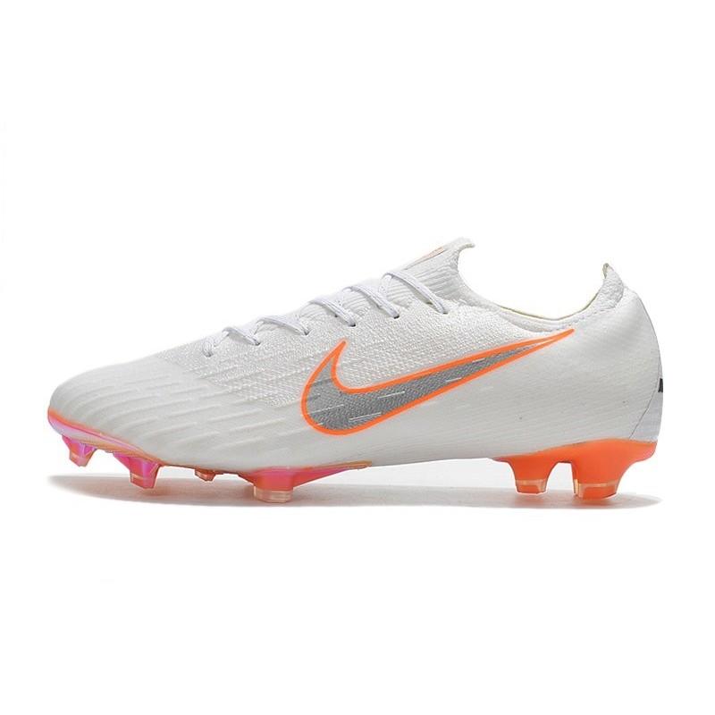 quality design b266d 20eff Nouveau Chaussures Football Nike Mercurial Vapor XII Elite FG - Blanc Gris  Métallique Orange Total