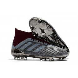 adidas Paul Pogba Predator 18.1 FG - Chaussures de Football Adidas Iron Metallic