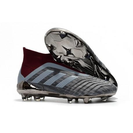 Chaussures adidas - Crampons Foot Adidas PP Predator 18+ FG Iron Metallic