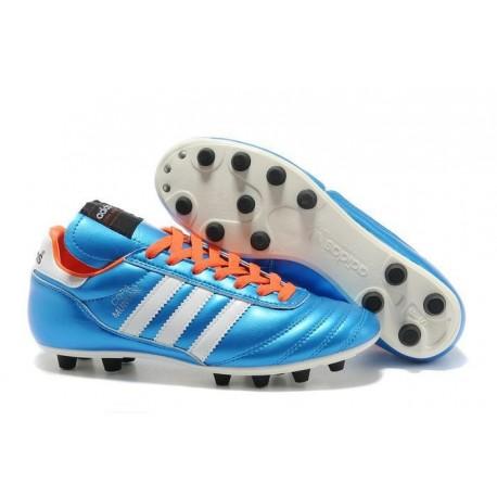 Nouveau Chaussure de Football Adidas Copa Mundial FG Bleu Noir Orange