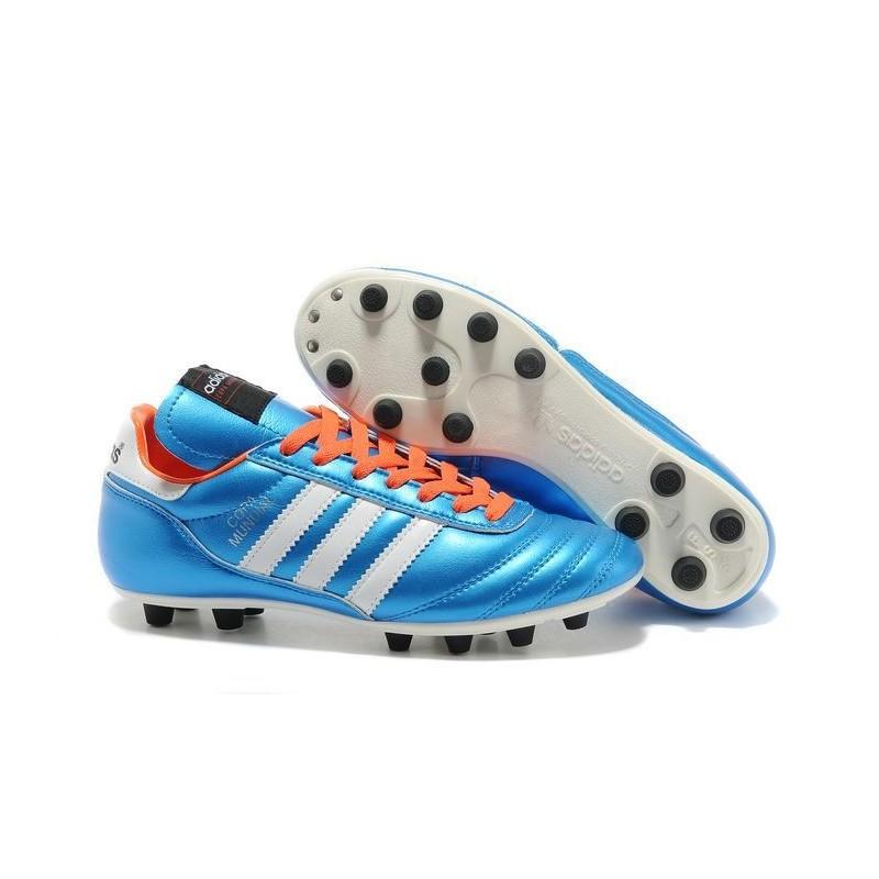 check out af332 3aa76 Nouveau Chaussure de Football Adidas Copa Mundial FG Bleu Noir Orange