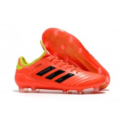 Chaussures de Football Adidas Copa 18.1 FG Rouge Jaune
