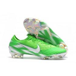Nouveau Chaussures Football Nike Mercurial Vapor XII Elite FG - Argent Vert