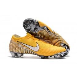 Nouveau Chaussures Football Nike Mercurial Vapor XII Elite FG - Jaune Amarillo Noir Blanc