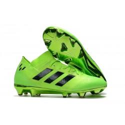 Chaussures de Football Hommes Adidas Nemeziz Messi 18.1 FG Vert Noir