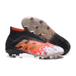 Chaussures adidas - Crampons Foot Adidas Predator Telstar 18+ FG Noir Cuivre Gris
