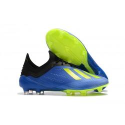 Crampons de football - Nouvelles - Adidas X 18.1 FG - Bleu Jaune Noir