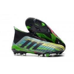 Chaussures de Football Adidas Predator 18+ FG Couleurs Vert Noir Jaune