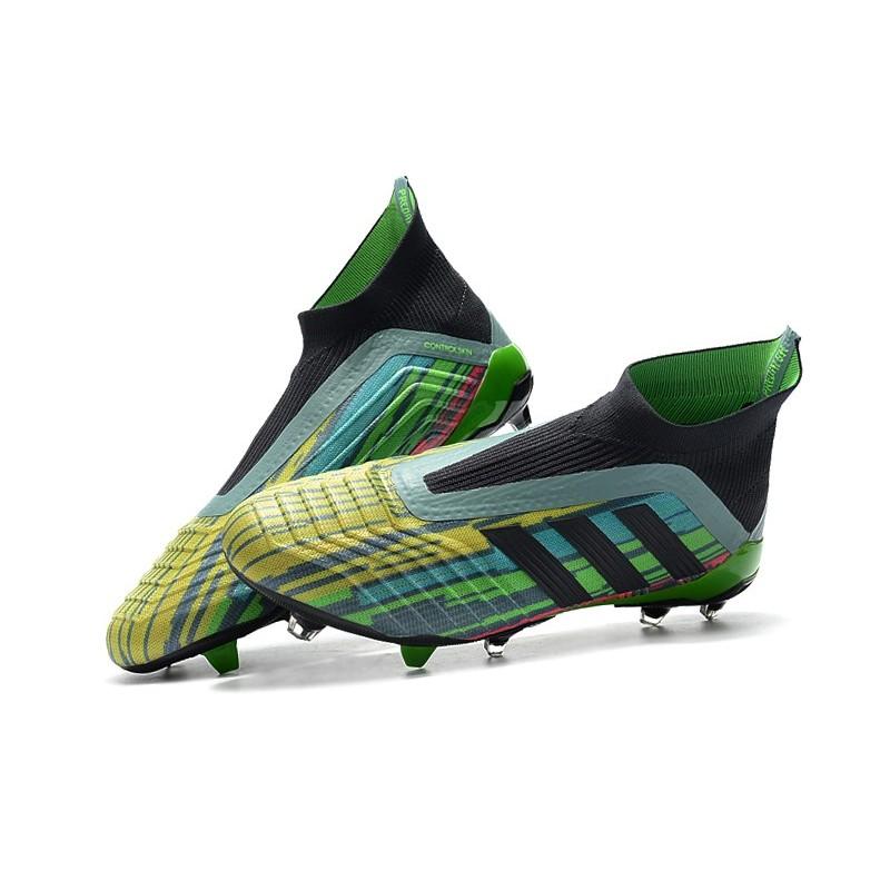 Jaune Chaussures Noir Couleurs De Predator Vert 18 Football Adidas Fg TwHqxrzT
