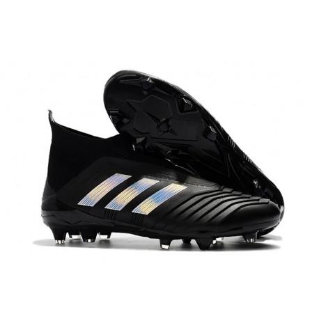 30e90e38ad6 2018 Chaussure Foot Crampon Adidas Predator Telstar 18+ FG Noir Argent