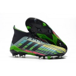 Paul Pogba Chaussure Adidas Predator 18.1 FG 2018 - Couleurs Vert Noir Jaune