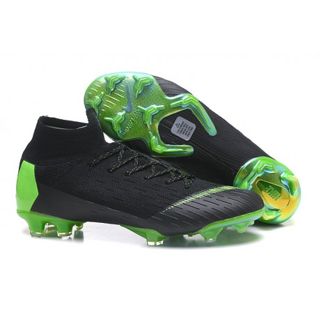 Nouvelles Chaussures de football Nike Mercurial Superfly VI 360 Elite FG Jaune Amarillo Noir Blanc