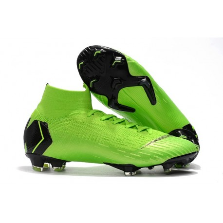 Crampons Nike Mercurial Superfly VI 360 Elite FG - Jade clair métallisé or vif blanc