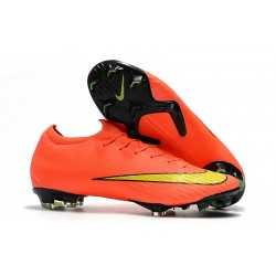 Chaussure de Foot Nike 2018 CR7 Mercurial Vapor 360 XII Elite FG - Orange Jaune