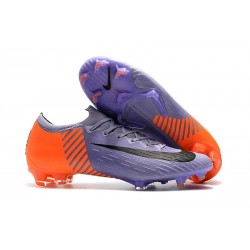 Crampon de Foot Nike Mercurial Vapor XII 360 Elite FG - Violet Orange Noir