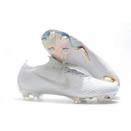 2018 Chaussures de Football Nike Mercurial Vapor XII 360 Elite FG Noir Argent