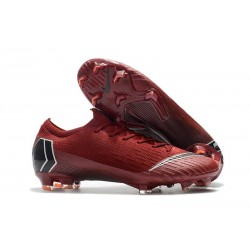Nouveau Chaussures Football Nike Mercurial Vapor XII Elite FG - Rouge Noir