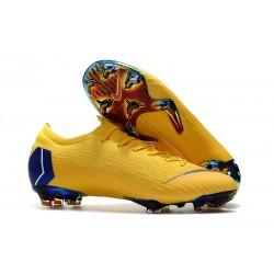 Nouveau Chaussures Football Nike Mercurial Vapor XII Elite FG - Jaune Bleu