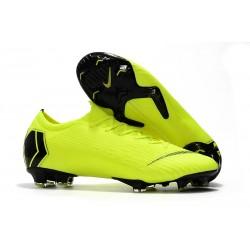 Nouveau Chaussures Football Nike Mercurial Vapor XII Elite FG - Jaune Fluorescent