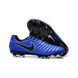 Chaussures de Football Nike pour Hommes - Nike Tiempo Legend 7 FG Bleu Noir