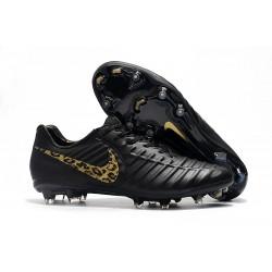 Chaussures de Football Nike pour Hommes - Nike Tiempo Legend 7 FG LÉOpard D'or Noir