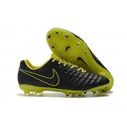 Chaussures de Football Nike pour Hommes - Nike Tiempo Legend 7 FG Noir Jaune
