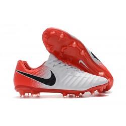Chaussures de Football Nike pour Hommes - Nike Tiempo Legend 7 FG Blanc Rouge Noir