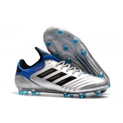 Chaussures de Football Adidas Copa 18.1 FG Argent Métallique Noir Bleu