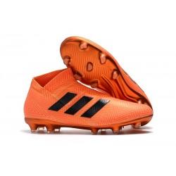 Chaussures de Football pour Hommes - adidas Nemeziz 18+ FG - Noir Orange