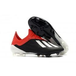 Crampons de football - Nouvelles - Adidas X 18.1 FG - Noir Blanc Rouge