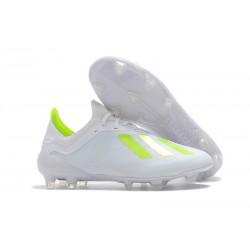 Crampons de football - Nouvelles - Adidas X 18.1 FG - Blanc Jaune
