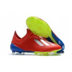 Crampons de football - Nouvelles - Adidas X 18.1 FG - Argent Rouge
