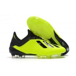 Crampons de football - Nouvelles - Adidas X 18.1 FG - Jaune Noir