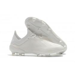 Crampons de football - Nouvelles - Adidas X 18.1 FG - Blanc Cassé
