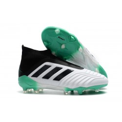 Chaussures adidas - Crampons Foot Adidas Predator 18+ FG Blanc Vert