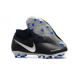 Nike Phantom Vision Elite DF FG - Chaussures de Football Bleu Noir