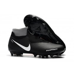 Nike Phantom Vision Elite DF FG - Chaussures de Football Noir Rouge Blanc